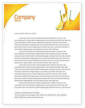 Food & Beverage: Orange Juice Letterhead Template #02416