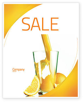 Food & Beverage: Orange Juice Sale Poster Template #02416