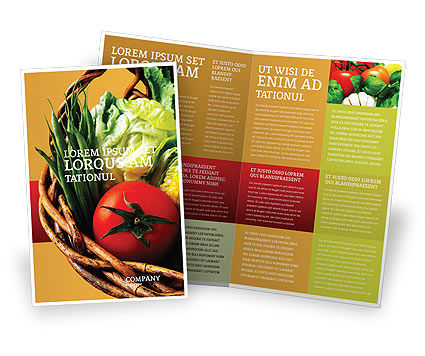 Grocery Brochure Template, 02427, Food & Beverage — PoweredTemplate.com