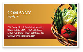 Food & Beverage: Grocery Business Card Template #02427