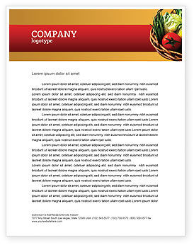 Grocery Letterhead Template, 02427, Food & Beverage — PoweredTemplate.com