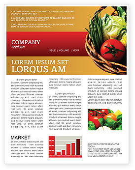 Grocery Newsletter Template, 02427, Food & Beverage — PoweredTemplate.com