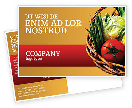 Grocery Postcard Template, 02427, Food & Beverage — PoweredTemplate.com