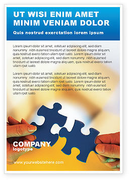 Pieces of Puzzle Ad Template, 02430, Business Concepts — PoweredTemplate.com