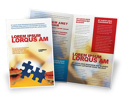 Business Concepts: Pieces of Puzzle Brochure Template #02430
