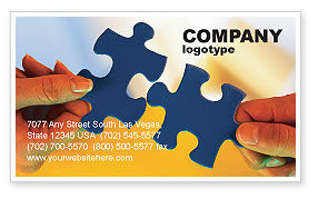 Pieces of Puzzle Business Card Template, 02430, Business Concepts — PoweredTemplate.com