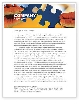 Business Concepts: Pieces of Puzzle Letterhead Template #02430