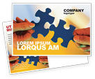 Business Concepts: Pieces of Puzzle Postcard Template #02430