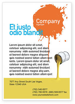 Utilities/Industrial: Yellow Paint Ad Template #02440