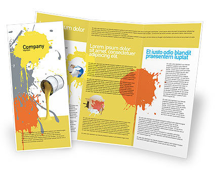 Utilities/Industrial: Yellow Paint Brochure Template #02440