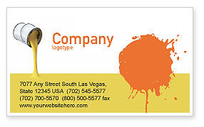Utilities/Industrial: Yellow Paint Business Card Template #02440