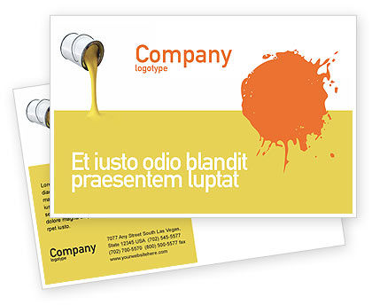Utilities/Industrial: Yellow Paint Postcard Template #02440