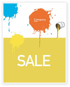 Yellow Paint Sale Poster Template, 02440, Utilities/Industrial — PoweredTemplate.com