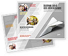 Construction: Paper Airplane Brochure Template #02441