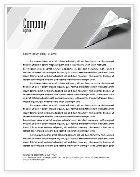 Construction: Paper Airplane Letterhead Template #02441