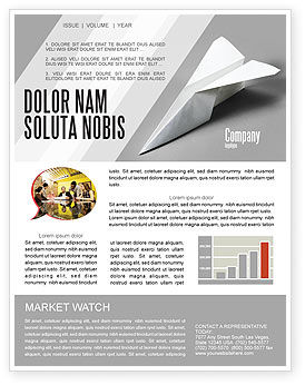 Construction: Paper Airplane Newsletter Template #02441
