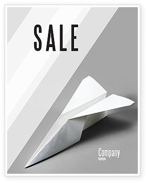 Construction: Paper Airplane Sale Poster Template #02441