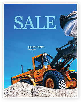 Loading Sale Poster Template, 02443, Utilities/Industrial — PoweredTemplate.com
