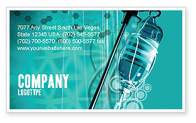 Medical: Medicine Dropper Business Card Template #02448