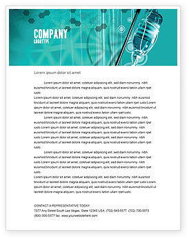 Medical: Medicine Dropper Letterhead Template #02448