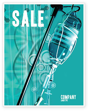 Medical: Medicine Dropper Sale Poster Template #02448