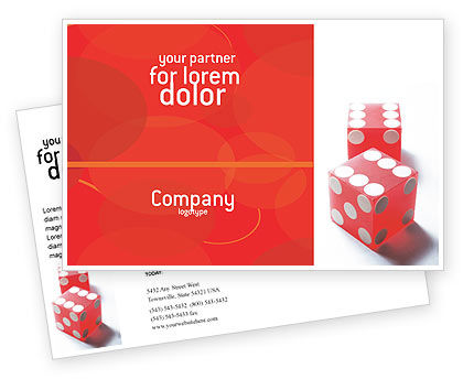 Business Concepts: Luck Postcard Template #02450