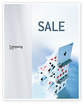 Cards For Playing Sale Poster Template, 02457, Art & Entertainment — PoweredTemplate.com
