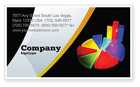 Financial/Accounting: Pie Chart Business Card Template #02458