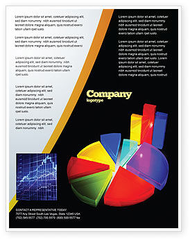 Financial/Accounting: Pie Chart Flyer Template #02458