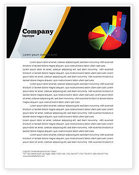 Financial/Accounting: Templat Kop Surat Pie Chart #02458