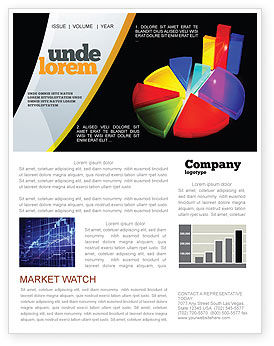 Pie Chart Newsletter Template, 02458, Financial/Accounting — PoweredTemplate.com