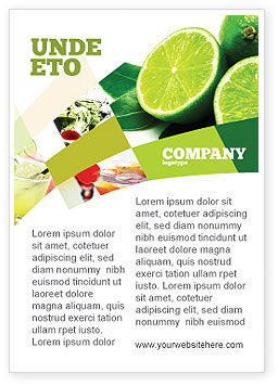Food & Beverage: Limoen Advertentie Template #02460