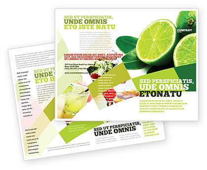 Food & Beverage: Lime Brochure Template #02460