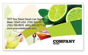 Lime Business Card Template, 02460, Food & Beverage — PoweredTemplate.com