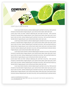 Lime Letterhead Template, 02460, Food & Beverage — PoweredTemplate.com