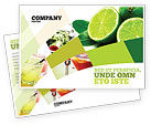 Food & Beverage: Lime Postcard Template #02460