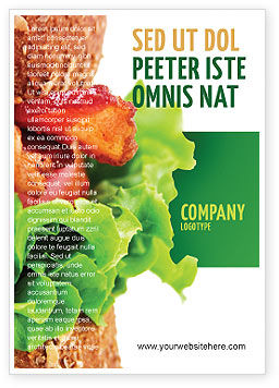 Food & Beverage: Burger Advertentie Template #02463