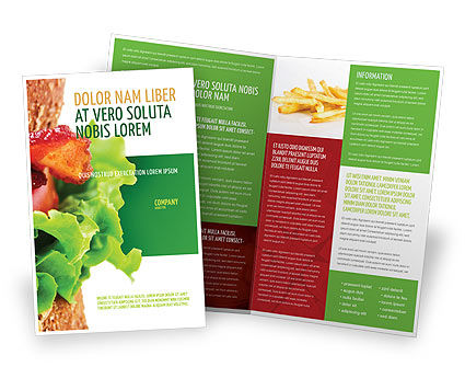 Burger Brochure Template, 02463, Food & Beverage — PoweredTemplate.com
