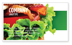 Food & Beverage: Burger Business Card Template #02463