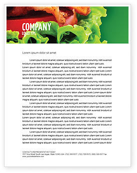 Burger Letterhead Template, 02463, Food & Beverage — PoweredTemplate.com