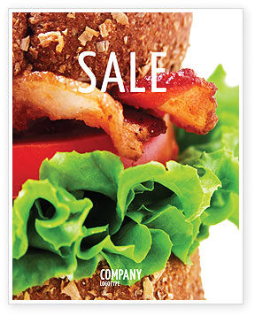 Food & Beverage: Burger Sale Poster Template #02463