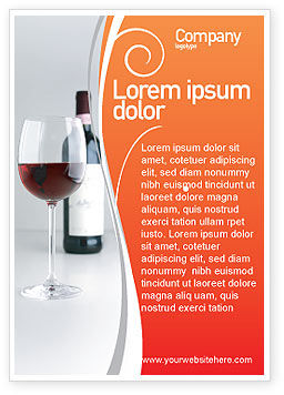Food & Beverage: Bottle of Wine Ad Template #02476