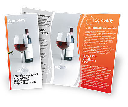 Bottle of wine brochure template design and layout for Wine brochure template