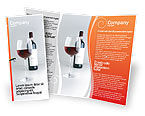 Food & Beverage: 팜플릿 템플릿 - 와인 한 병 #02476