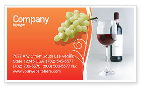Bottle of Wine Business Card Template, 02476, Food & Beverage — PoweredTemplate.com