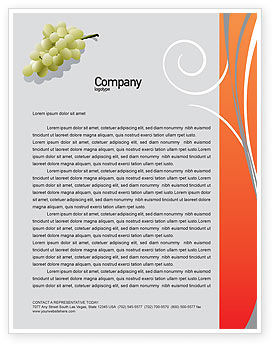 Food & Beverage: Bottle of Wine Letterhead Template #02476