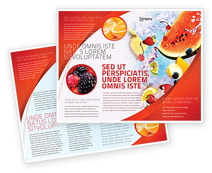 Water melon brochure template design and layout download for Water brochure template