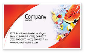 Food & Beverage: Water Melon Business Card Template #02481