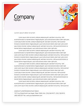 Water Melon Letterhead Template, 02481, Food & Beverage — PoweredTemplate.com