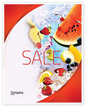 Water Melon Sale Poster Template